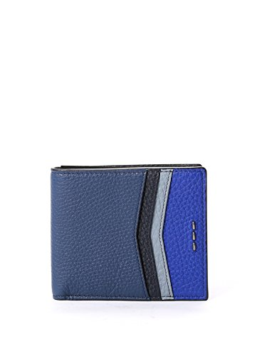 Fendi Men's 7M0169SHYF07T1 Blue/Black Leather Wallet