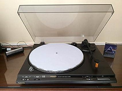 DJ. Gamuza Slipmat Color Blanco para tocadiscos Professional con ...