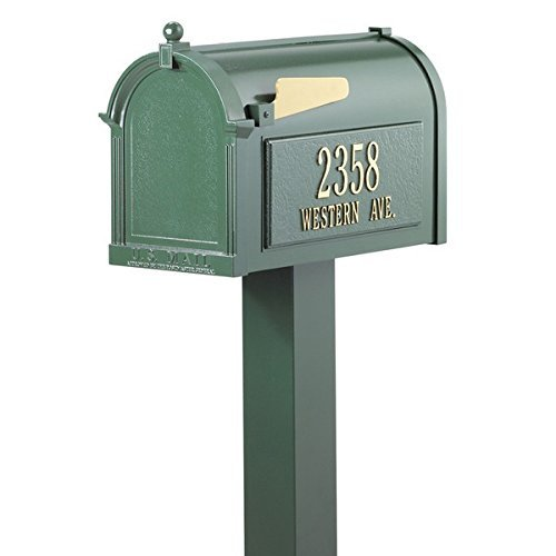 Whitehall Premium Mailbox Package (Whitehall Products 16138 Wall Mailbox, French Bronze)