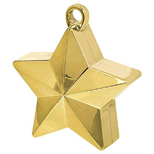 - Gold Star Electroplated Balloon Weight | Party Decor