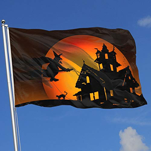 QphonesFlag Halloween Witch Flag 3x5-Flags 90x150CM-Banner 3'x5' FT -