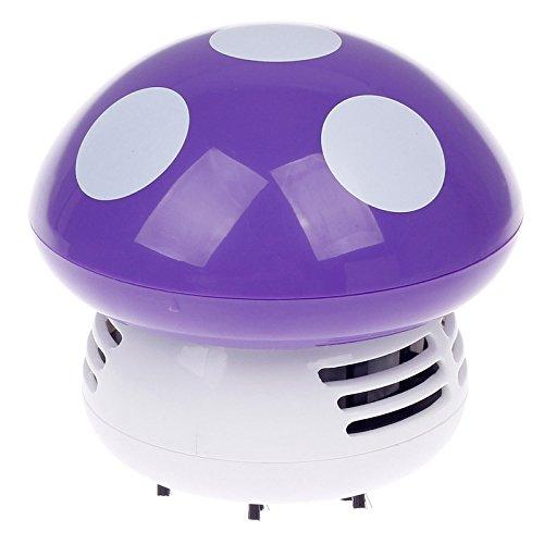 Song Qing Useful Table Cleaner Mini Mushroom Shaped Vacuum Desk Keyboard Corner Dust Sweeper Random Color