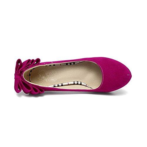 Balamasa Damene Solid Pull-on Frostet Pumper-sko Røde