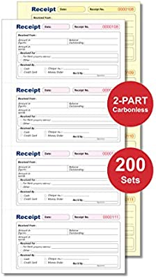 135 x 280mm Money Rent Receipt Book Duplicate Duplicate Receipt Book NCR 5 Books DNCR-8000 2-Parts Carbonless