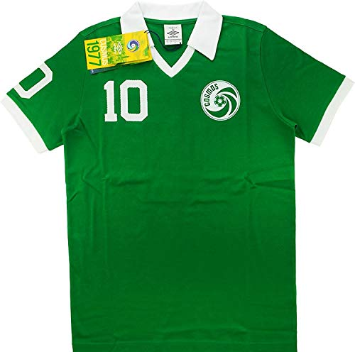 Umbro Cosmos New York Retro Pelé Shirt Green - T-shirt Umbro Soccer