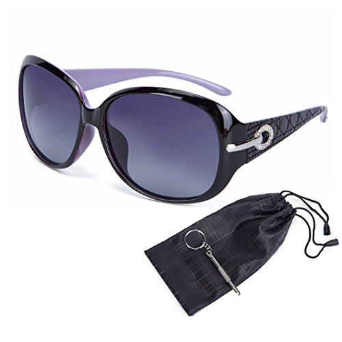 OYMI - Lunette de soleil - Femme Purple Frame Grey Lens