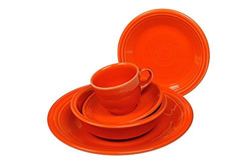Setting Orange Piece 5 Place - Fiesta 5-Piece Place Setting, Poppy