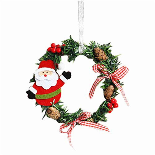 FANRENYOU 2PCS Christmas Ornaments Wreaths Ring Santa for sale  Delivered anywhere in USA