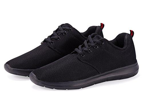Athletische Schuhe einer anderen Sommer-Männer beiläufige Art-Ineinander greifen Schwarz