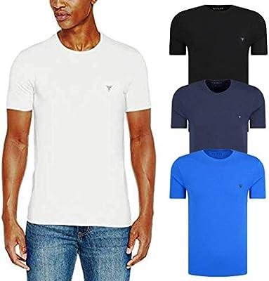 42d2076968 Guess T-Shirt for Men - Blue, L: Amazon.com
