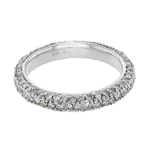 - 18K White Gold Round Band Ring (1.72 ctw, H-I Color, I1 Clarity)