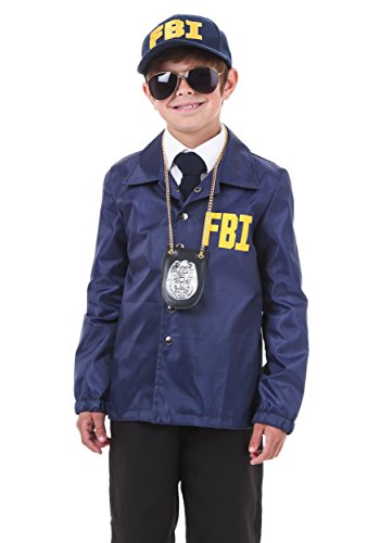 Womens Fbi Costume (Child FBI Costume Large)