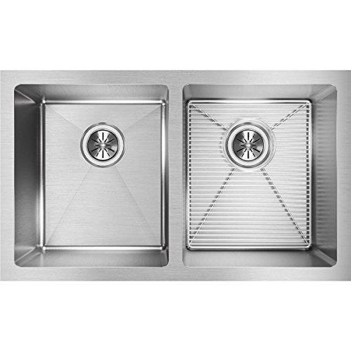 Elkay Avado Double Bowl (Elkay Crosstown EFRU311810DBG Equal Double Bowl Undermount Stainless Steel Kitchen Sink Kit)