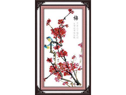 Happy Forever Cross Stitch,Chinese style flowers,Four gentle