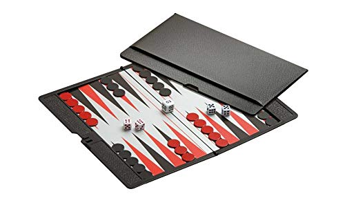 (Backgammon Game Set - Mini Magnetic Travel Set - Simple Funny Family, Party Board Game)
