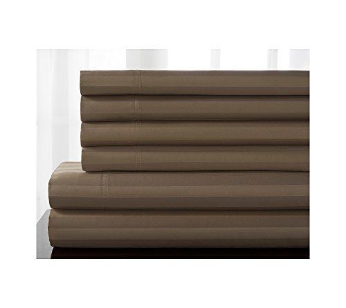 Elite Cotton Pebbles - Elite Home Products Delray Stripe 600-Thread Count Cotton Rich 6-pc. Sheet Sets Pebble Queen Sheet Set