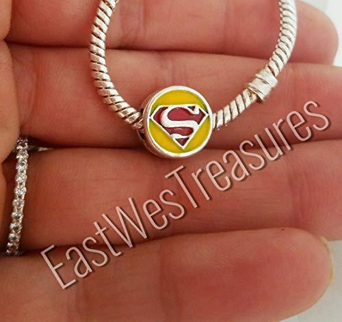 (EWT Superman Superhero bead Charm - For Bracelets)