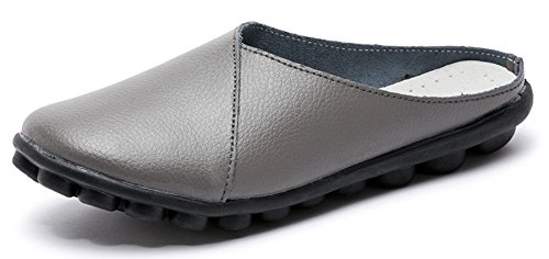 Labato Donna Mules Slip on scarpe Pelle Clogs Flats Wallking   Wallking
