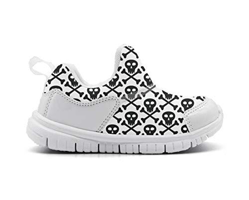 Skull black skull and crossbones Toddler Children Shoes for Girls and Boys Sport Sneaker -