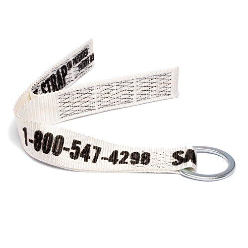 D-ring Flap - Safe-T-Strap Premium 2-Foot Cross Arm Strap with Large D-Ring and Flap Ends Fall Arrest Fall Protection Safety Harness Lanyard Tie Down Concrete Anchors