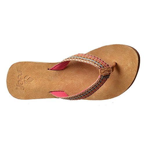 Pink Teal Rosa Suede Gypsylove Soft Leather Footbed Reef Purple Womens Flip Flops 8qUxP