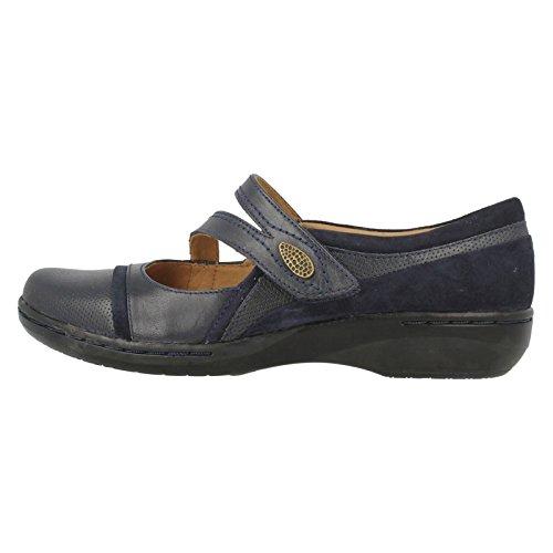 Clarks Evianna Couronne Chaussures de Détente Pour Femme - Bleu - Bleu,