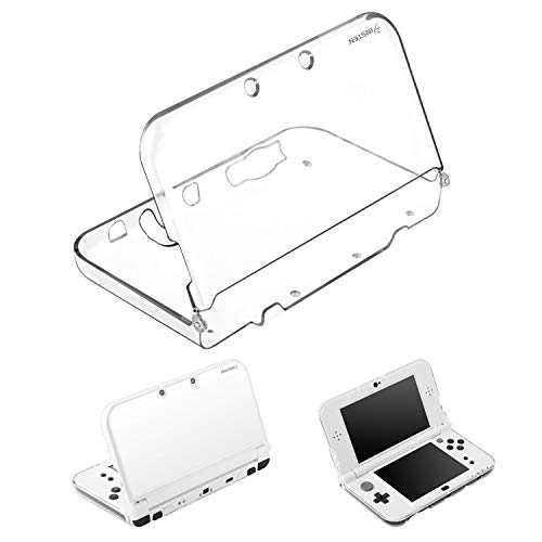 For New 3DS XL Clear Case by Insten Ultra Clear Crystal Transparent [Hard Plastic] Slim Fit Protective Anti-Scratch Carrying Travel Cover Skin Case compatible with New Nintendo 3DS XL / 3DS LL 2015