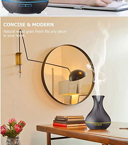 Appreciis 7LED Oil Purifier with and 400ml Wood Smart Essential Diffuser Aroma Color