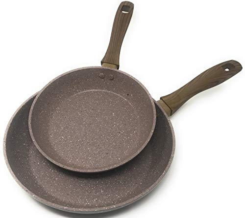 Frying Pan by OLINDA – Skillet Set – PREMIUM NON STICK COATING – INDUCTION BASE – Set of 2 8 inch and 10.5 inch Forged…
