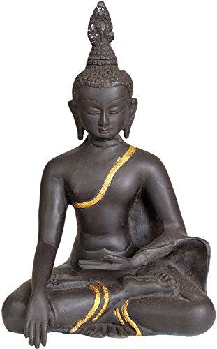 CraftVatika Thai Brass Buddha Statue -Earth Touching Pose Buddhist Religious Ancient Sculptures by CraftVatika