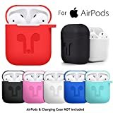WensLTD Clearance! for AirPods Silicone Case Cover Protective Skin for Apple Airpod Charging Case (Red)