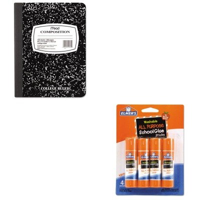 KITEPIE542MEA09910 - Value Kit - Elmer's Washable All Purpose School Glue Sticks (EPIE542) and Mead Black Marble Composition Book (MEA09910)