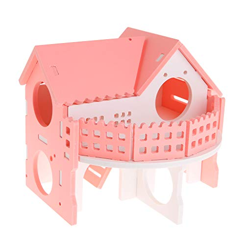 Stebcece Hamster House, Durable Odorless Non-Toxic Two Layers Hut for Hamster Toys Hamster House Small Animal Living Castle (Castle Hamster)