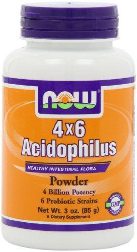 NOW Foods 4x6 acidophilus poudre, 3 Onces