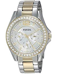 Women's Riley Quartz Two-Tone Stainless Steel Chronograph Watch, Color: Silver, Gold (Model: ES3204)