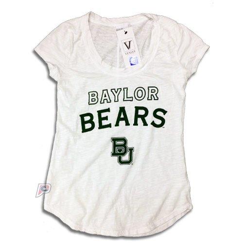 Baylor Bears Womens Slub Crew Neck T-Shirt Small