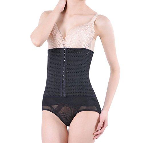 Waist Tummy Slimming Breathable Shapewear Shaper Corset Girdle Size L (Black) - 4