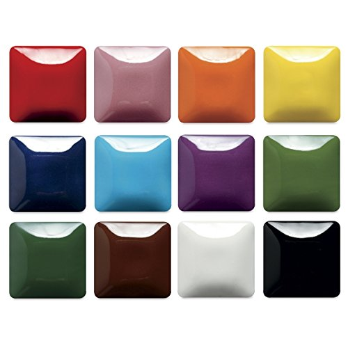 Low Fire Glazes - Mayco Stroke & Coat Wonderglaze Glaze Set A, Assorted Colors, Set of 12