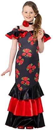 Smiffys Disfraz de Flamenca con Flores para niña: Amazon.es ...