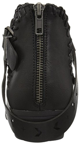 Sugar Women's Tiggles Open Side Festival Buckle Boho Bootie Ankle Boot Black Polyurethane OmCqgZh