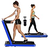 ncient Under Desk Treadmill for Home 2 in 1 Folding Electric Treadmill Walking Running Machine Pad Treadmill with Remote Control and Bluetooth Speaker Installation-Free