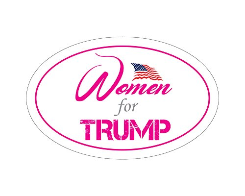 StickerPirate Oval Car Magnet Trump 2020 Women For Trump TO451 ()