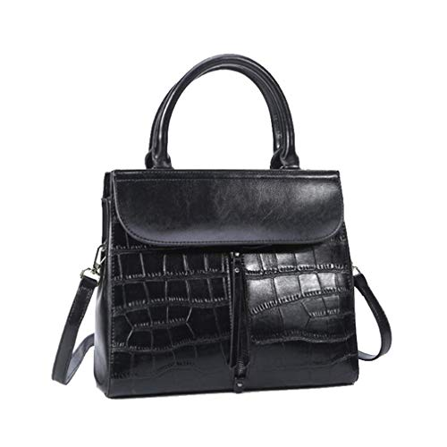 bandoulière à Black Gray Palm Cow Work Brand Femmes Ladies Medium Sac 21Club Totes Party Purse Main Cowhide Print Coin HxnTU