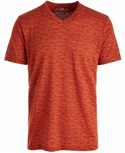 American Rag Mens Potters Clay Striped V Neck Tee Shirt Orange XL