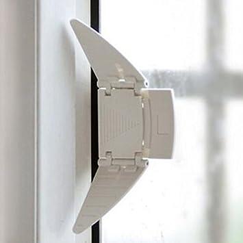 Generic Sliding Closet Door Lock Sliding Window Wedge Locks Security Locks  For Baby Kids Children Proofing