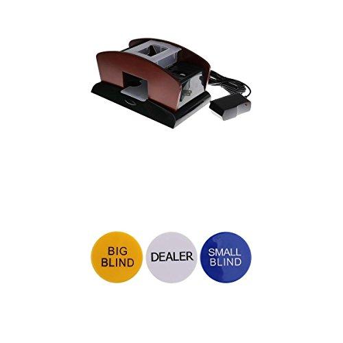 MagiDeal Wood Automatic Poker Card Shuffler Casino Playing Shuffling 2 Deck+Dealer #2 by MagiDeal