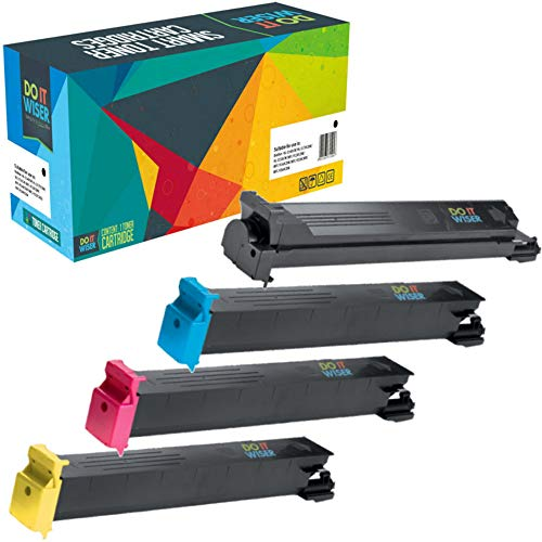 Do it Wiser Compatible Toner for Konica Minolta BizHub C353 C203 C253 | TN213K TN213C TN213M TN213Y (4 Pack)