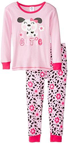 Gerber Little Girls' Toddler 2 Piece Cotton Pajama, Dalmatian, 4T (Toddler Dalmatian)
