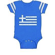 TeeStars - Greece Flag Vintage Style Retro Greek Newborn Baby Jersey Bodysuit