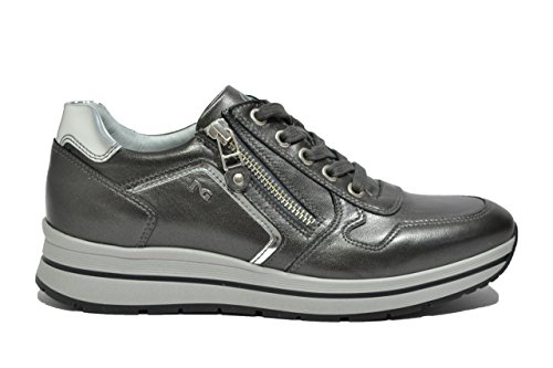 Giardini Fondo Alto Sneakers Scarpe Nero Antracite A719480D 9480 Donna dxwHRnqE